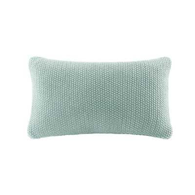 Bree Knit Throw Pillow Aqua (Blue) - Target
