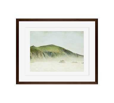 """Green and Mist Framed Print by Lupen Grainne, 20 x 16"""", Wood Gallery Frame, Espresso, Mat - Pottery Barn"""