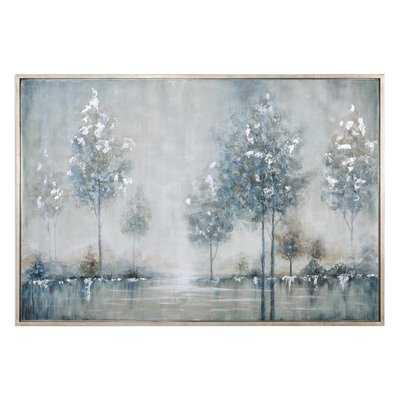 Walk in the Meadow Landscape Framed Painting - Wayfair