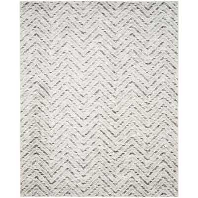Adirondack Ivory/Charcoal (Ivory/Grey) 8 X 10 Area Rug - Home Depot