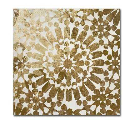 'Moroccan Gold I' Graphic Art on Wrapped Canvas - Wayfair