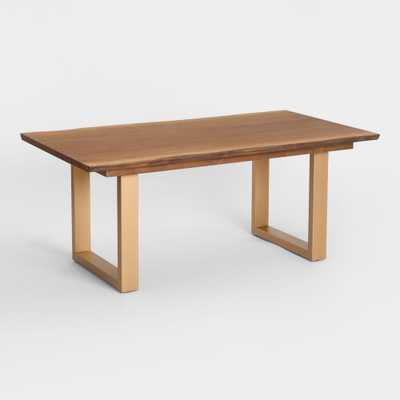 Live Edge Wood and Gold Metal Sloan Dining Table by World Market - World Market/Cost Plus