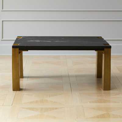Alcide Square Marble Coffee Table - CB2