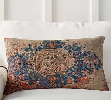 "Navin Print Pillow Cover, 16x26"", Multi (without insert) - Pottery Barn"