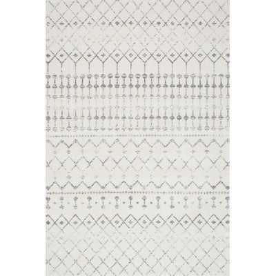 Clair Geometric Gray Area Rug - 8' x 10' - Wayfair