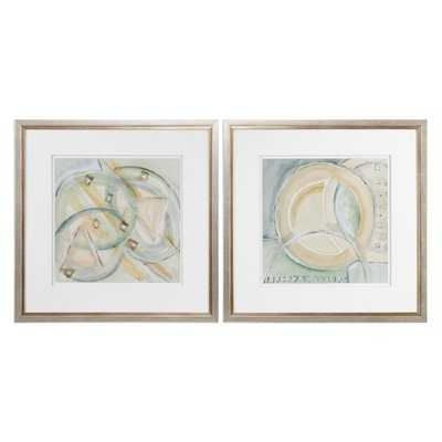 Abstracts 2 Piece Framed Painting Print Set - Wayfair
