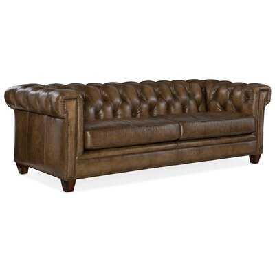 Chester Leather Chesterfield Sofa - Wayfair