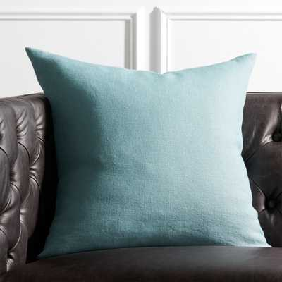 "20"" Linon Arctic Blue Pillow with Feather-Down Insert - CB2"