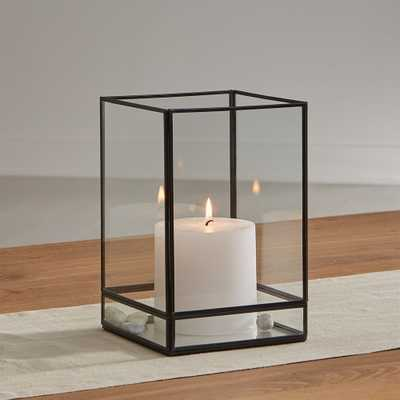 "Jasper 9.25"" Black Square Hurricane - Crate and Barrel"