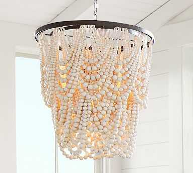 Amelia Wood Bead Chandelier - Pottery Barn