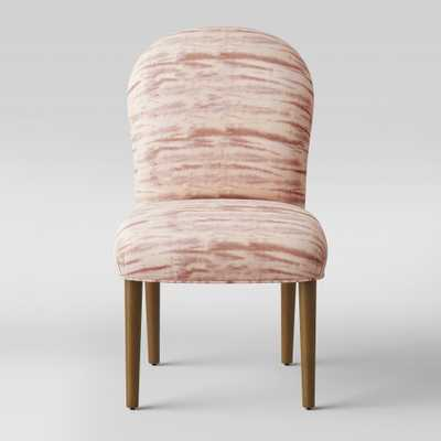 Caracara Rounded Back Dining Chair Pink Velvet - Opalhouse - Target