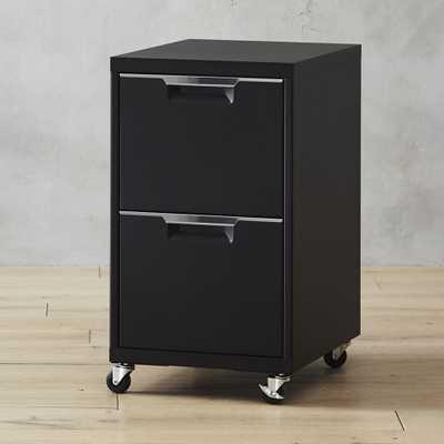TPS Black 2-Drawer Filing Cabinet - CB2
