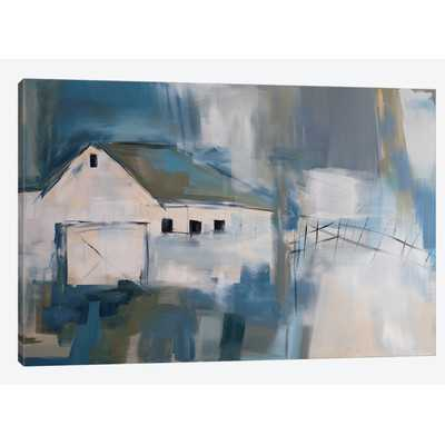 White Barn Painting Print on Wrapped Canvas - Wayfair
