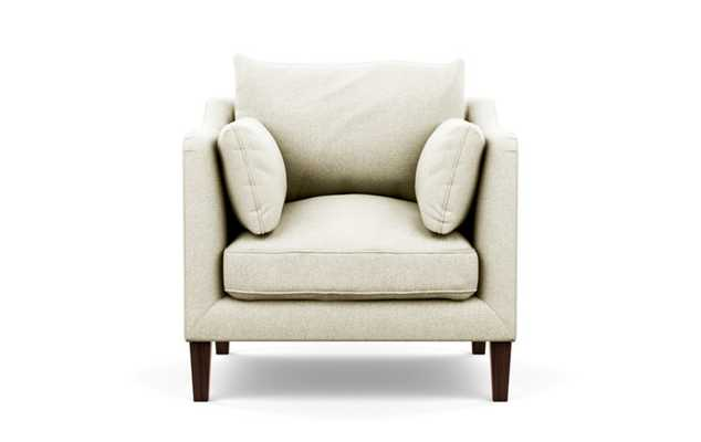 Caitlin by The Everygirl Petite Chair with Vanilla Fabric and Oiled Walnut legs - Interior Define