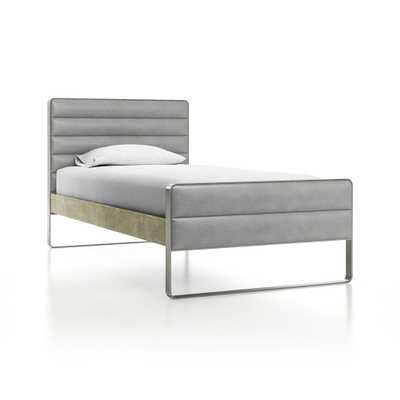 Drew Wood and Metal Twin Bed - Crate and Barrel