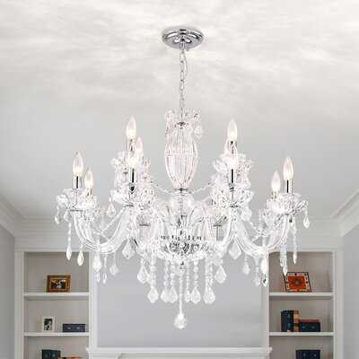 Louann 12-Light Crystal Chandelier - Wayfair