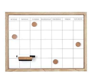 Daily Modular Wall System, Whiteboard Calendar - Livingston Gray - Pottery Barn