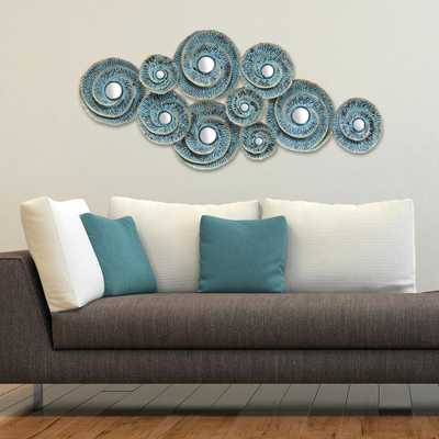 Stratton Home Decor Decorative Waves Metal Wall Decor, Blue - Home Depot