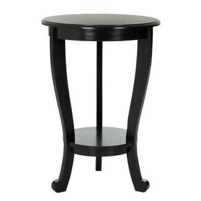 Mary Distressed Black Side Table - Home Depot