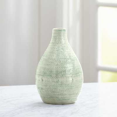Cara White and Aqua Vase - Crate and Barrel