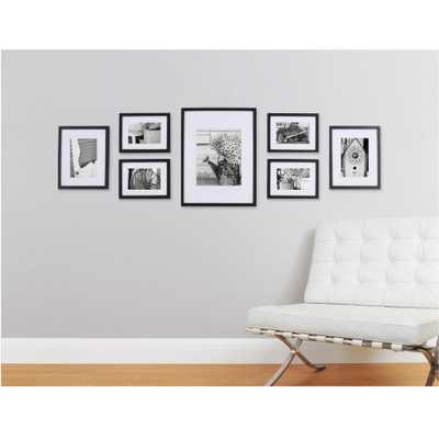 7-Opening Matted Picture Frame Collage Set, Black - Home Depot