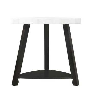 Kimberlin White Marble Top End Table - Wayfair