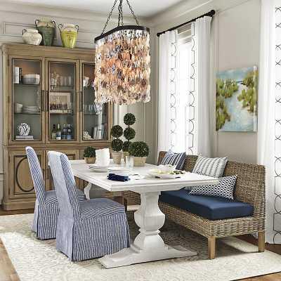 "Andrews Double Pedestal Dining Table - 84""   - Ballard Designs - Ballard Designs"