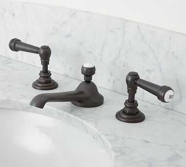 Reyes Lever-Handle Widespread Bathroom Faucet, Antique Bronze Finish - Pottery Barn