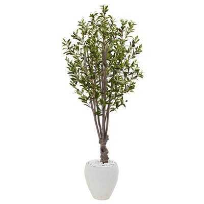 Artificial Olive Floor Foliage Tree in Planter - Wayfair