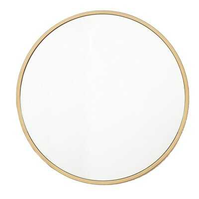 Zaid Circle Modern Accent Mirror - Wayfair