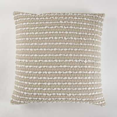 Handwoven two tone grey Pillow with fringes, Grey And Natural - Home Depot