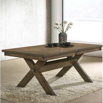 Poe Cross-buck Extendable Dining Table - Wayfair