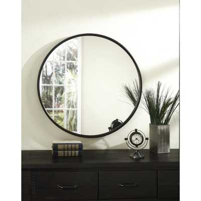 30 in. Oil Rubbed Bronze Framed Round Wall Mirror - Home Depot