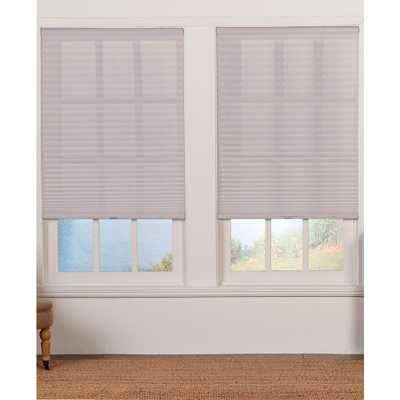 Perfect Lift Window Treatment Cut-to-Width Silver Gray 1 in. Light Filter Cordless Pleated Shade-36 in. W x 72 in. L(Actual size: 36 in. W x 72 in. L) - Home Depot