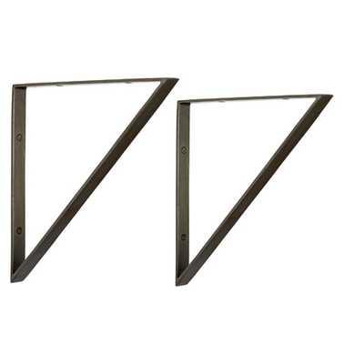"10"" Triangle Shelf Brackets - Rejuvenation"