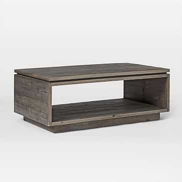 Emmerson(R) Modern Coffee Table, Stone Gray - West Elm