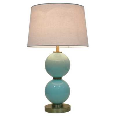 Glass Table Lamp with Touch On/Off Aqua (Blue) - Pillowfort - Target