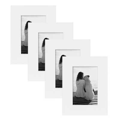 Museum 4x6 White Picture Frame (Set of 4) - Home Depot