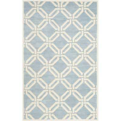 Aubrielle Blue/Ivory Area Rug - Wayfair