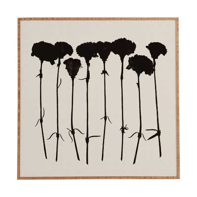 Carnations by Garima Dhawan Framed Graphic Art Plaque in Black - Wayfair