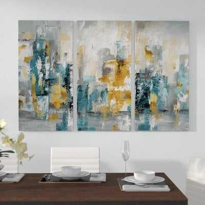 "'City Views II' Acrylic Painting Print Multi-Piece Image on Gallery Wrapped Canvas, 32""x48"" - Wayfair"