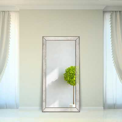 Champagne Beed Beveled Leaner Mirror - Home Depot