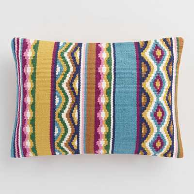 Multicolored Catalina Stripe Indoor Outdoor Patio Throw Pillow by World Market - World Market/Cost Plus