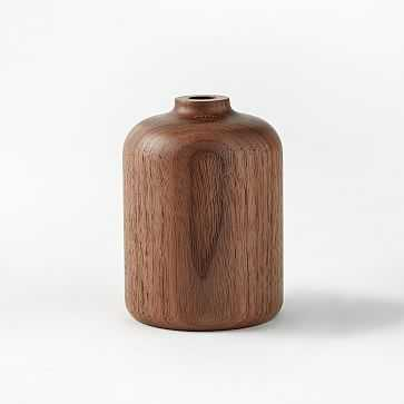 Melanie Abrantes Hardwood Vase, Short, Walnut - West Elm