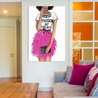 Pardon My French II Painting Print on Wrapped Canvas - Wayfair