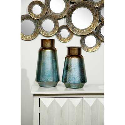 Pamella Gradient Metal 2 Piece Table Vase Set - Wayfair