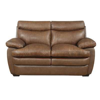 Millwood Leather Loveseat - Wayfair