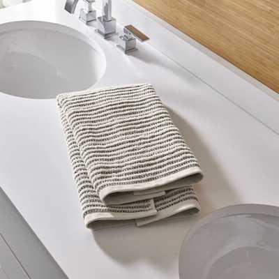 Rowan Striped Hand Towel - Crate and Barrel