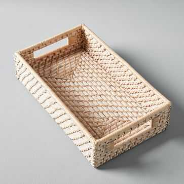 Modern Weave Basket, Whitewashed, Medium - West Elm
