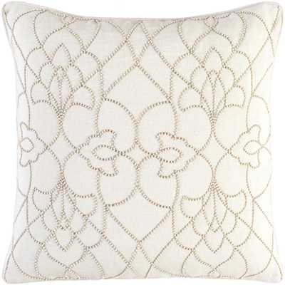 Romilly Poly Euro Pillow, Ivory - Home Depot